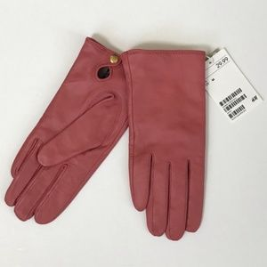 NWT H&M Genuine Leather Gloves